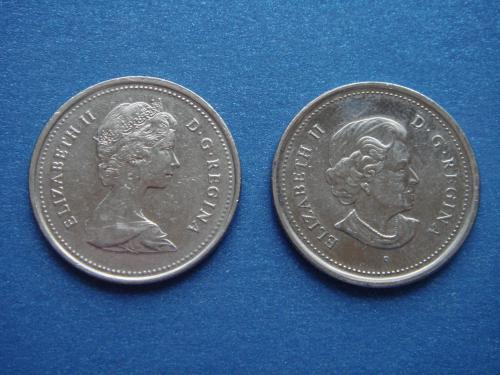Канада, 25 + 25 центов 1988, 2004 гг.