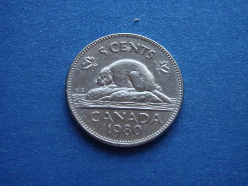 Канада, 5 центов, 1980 г.