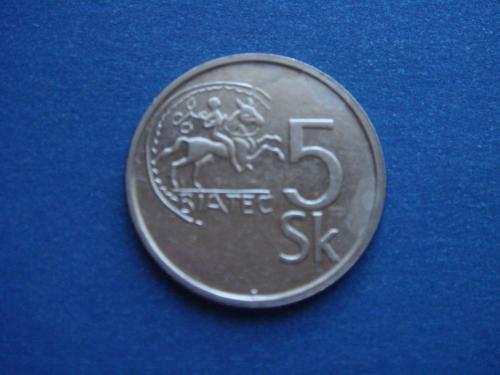 Словакия, 5 крон 1993 г.