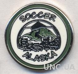 Аляска (США), федерация футбола, ЭМАЛЬ / Alaska,USA soccer association pin badge
