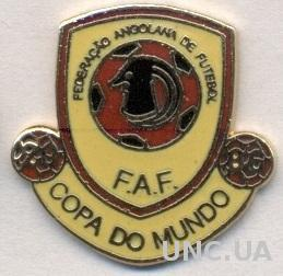 Ангола, федерация футбола,№4,ЭМАЛЬ / Angola football federation enamel pin badge