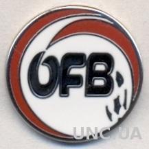 Австрия,федерация футбола,№4 ЭМАЛЬ /Austria football federation enamel pin badge