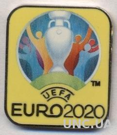 Чемпионат Европы 2020, №1, ЭМАЛЬ / Euro 2020 logo football enamel pin badge