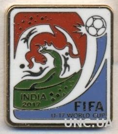 Чемпионат Мира U17, 2017 (Индия), ЭМАЛЬ / FIFA U17 World Cup football pin badge