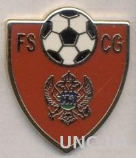 Черногория, федерация футбола,№5,ЭМАЛЬ /Montenegro football federation pin badge