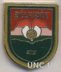Дельвидек, федерация футбола (не-ФИФА) ЭМАЛЬ / Delvidek football federation pin
