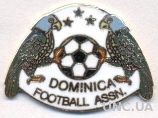 Доминика, федерация футбола,№2, ЭМАЛЬ / Dominica football federation pin badge