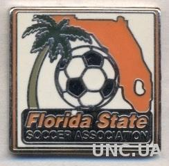 Флорида (США),федерация футбола, ЭМАЛЬ /Florida,USA soccer association pin badge