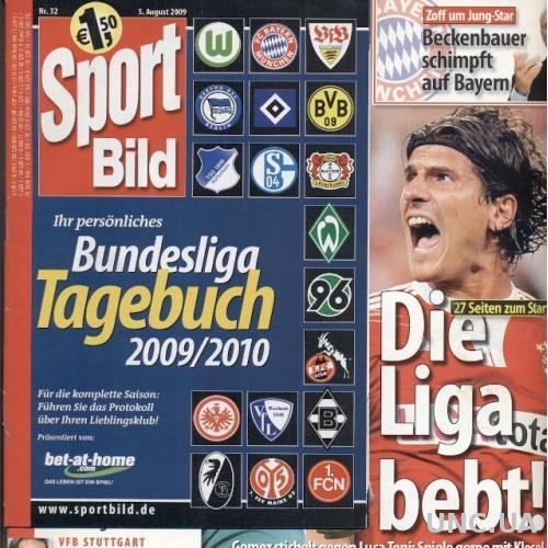 Футбол, Чемпионат Германии 2009-10, Sport Bild Bundesliga season preview guide