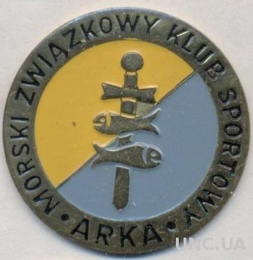 футбол.клуб Арка Гдыня (Поль.)тяжмет /MZKS Arka Gdynia,Poland football pin badge