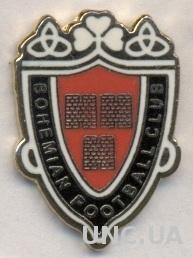 футбол.клуб Богемиан Дублин (Ирландия)3 ЭМАЛЬ / Bohemian FC,Ireland football pin