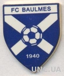 футбол.клуб Больм (Швейцария) тяжмет / FC Baulmes,Switzerland football pin badge