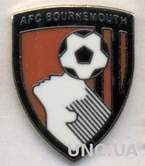 футбол.клуб Борнмут (Англия)1 ЭМАЛЬ / AFC Bournemouth,England football pin badge