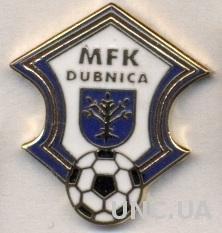 футбол.клуб Дубница (Словакия)2 ЭМАЛЬ / MFK Dubnica, Slovakia football pin badge