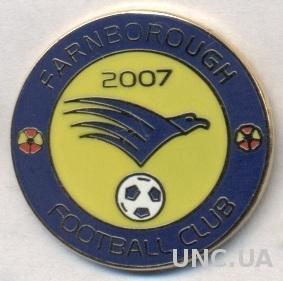 футбол.клуб Фарнборо (Англия) ЭМАЛЬ / Farnborough FC, England football pin badge