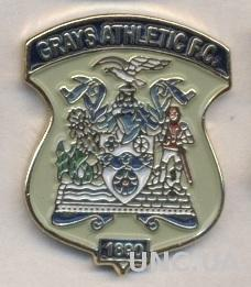 футбол.клуб Грейс (Англия) тяжмет / Grays Athletic FC,England football pin badge