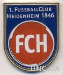 футбол.клуб Хайденхайм (Германия) тяжмет / 1.FC Heidenheim, Germany football pin