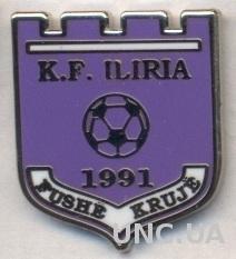 футбол.клуб Илирия (Албан.) ЭМАЛЬ /Iliria Fushe-Kruje,Albania football pin badge