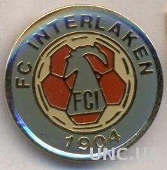 футбол.клуб Интерлакен (Швейц.)тяжмет / FC Interlaken,Switzerland football badge