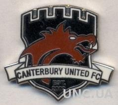 футбол.клуб Кентербери (Новая Зеландия) ЭМАЛЬ /Canterbury Utd FC,New Zealand pin