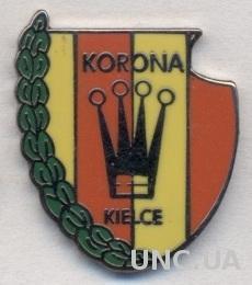 футбол.клуб Корона Кельце(Польша) ЭМАЛЬ /Korona Kielce,Poland football pin badge