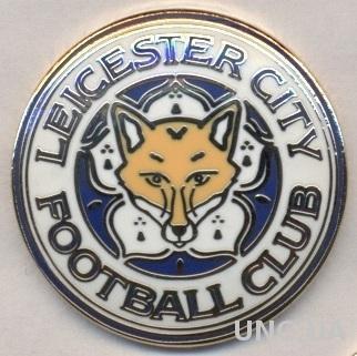 футбол.клуб Лестер (Англия) ЭМАЛЬ выпуклый / Leicester City,England football pin