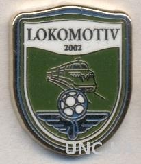 футбол.клуб Локомотив(Узбек.)2 ЭМАЛЬ /Lokomotiv Toshkent,Uzbekistan football pin