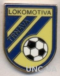 футбол.клуб Локомотива Т.(Словак) ЭМАЛЬ /Lokomotiva Trnava,Slovakia football pin
