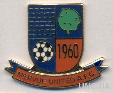 футбол.клуб Мервью (Ирландия) ЭМАЛЬ /Mervue United FC,Ireland football pin badge