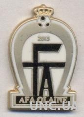 футбол.клуб Олайне (Латвия) ЭМАЛЬ / AFA Olaine, Latvia football enamel pin badge
