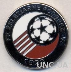 футбол.клуб Подбрезова (Словак) ЭМАЛЬ /Zeleziarne Podbrez.,Slovakia football pin
