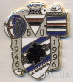 футбол.клуб Сампдория (Италия)2 ЭМАЛЬ / UC Sampdoria, Italy football pin badge