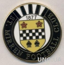 футбол.клуб Сент-Миррен (Шотландия), ЭМАЛЬ / St.Mirren FC, Scotland football pin