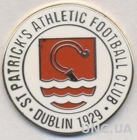 футбол.клуб Сент-Патрик'с (Ирланд)2 ЭМАЛЬ /St.Patrick's AFC,Ireland football pin