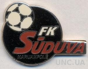 футбол.клуб Судува(Литва) ЭМАЛЬ /Suduva Marijampole,Lithuania football pin badge