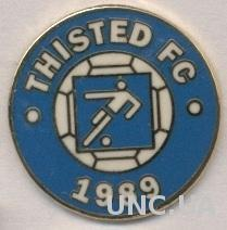 футбол.клуб Тистед (Дания) ЭМАЛЬ / Thisted FC, Denmark football enamel pin badge