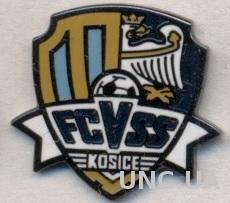 футбол.клуб ВСС Кошице (Словакия)2 ЭМАЛЬ /VSS Kosice,Slovakia football pin badge