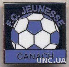 футбол.клуб Женесс К(Люксембург) ЭМАЛЬ /Jeunesse Canach,Luxemburg football badge