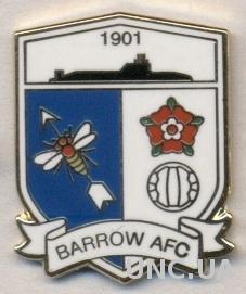 футбольный клуб Барроу (Англия) ЭМАЛЬ / Barrow AFC,England football pin badge