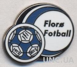 футбольный клуб Флоре (Норвегия) ЭМАЛЬ / Floro Fotball,Norway football pin badge
