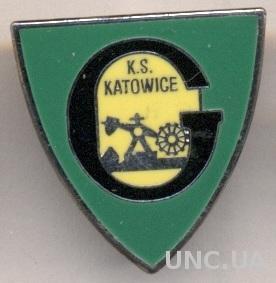 футбольный клуб ГКС Катовице (Польша)1 ЭМАЛЬ /GKS Katowice,Poland football badge