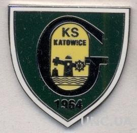 футбольный клуб ГКС Катовице (Польша)2 ЭМАЛЬ / GKS Katowice, Poland football pin