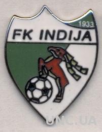 футбольный клуб Индия (Сербия) ЭМАЛЬ /FK Indija,Serbia football enamel pin badge