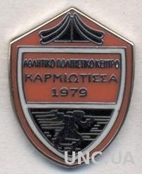 футбольный клуб Кармиотисса (Кипр) ЭМАЛЬ / Karmiotissa,Cyprus football pin badge