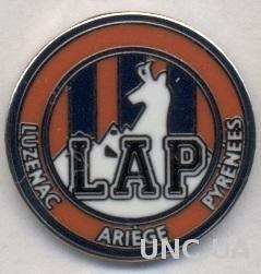 футбольный клуб Люзнак (Франция)2 ЭМАЛЬ / Luzenac AP, France football pin badge