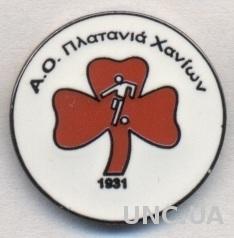 футбольный клуб Платаниас (Греция) ЭМАЛЬ /Platanias FC,Greece football pin badge