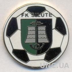 футбольный клуб Шилуте (Литва), ЭМАЛЬ / FK Silute, Lithuania football pin badge