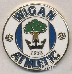 футбольный клуб Уиган (Англия)5 ЭМАЛЬ /Wigan Athletic,England football pin badge
