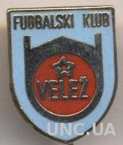 футбольный клуб Вележ Мостар (Босния)3 ЭМАЛЬ /Velez Mostar,Bosnia football badge