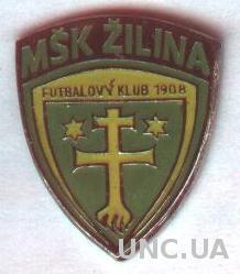 футбольный клуб Жилина (Словакия)1 тяжмет / MSK Zilina, Slovakia football badge